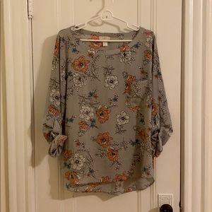 Loft 3/4 Sleeve Blouse Size L